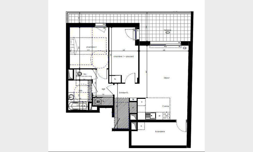 Appartement T3 76m2 avec terrasse et parking Luynes : Photo 1