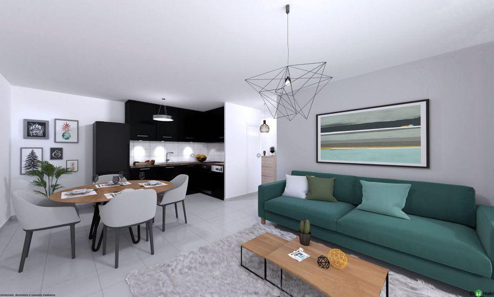 Appartement T3 66m2 avec terrasse et parking Luynes