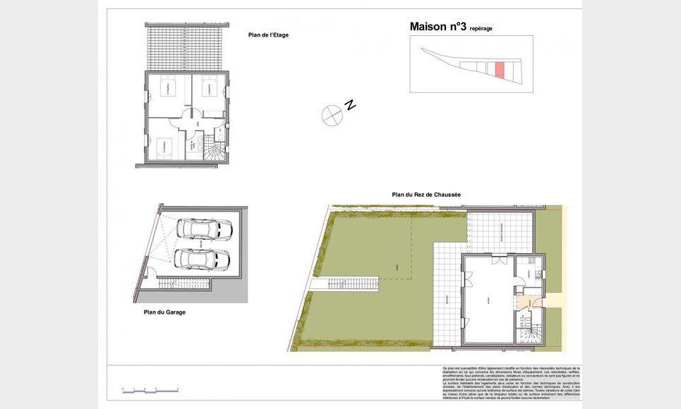 Villa T4 96,89m2 avec garage - Terrain 285,52m2 : Photo 1