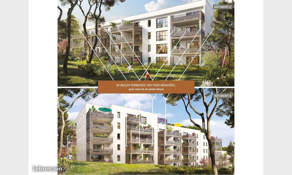 Appartement T2 39,76m2 - Terrasse - Garage (en sup) : Photo 1