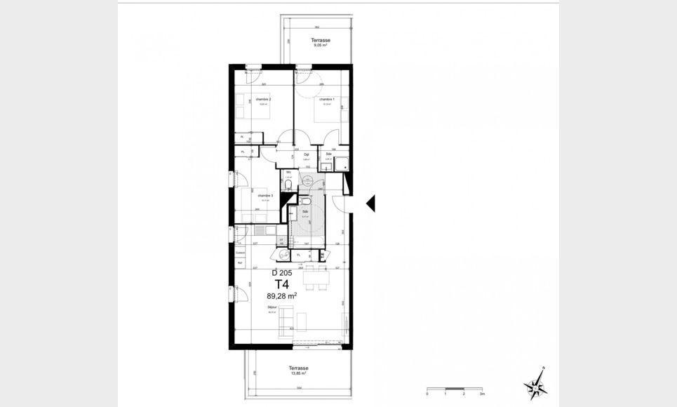 Appartement T4 87,9m2 avec terrasses et garage : Photo 1