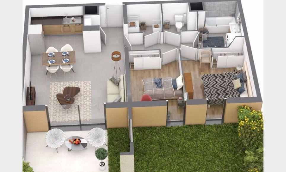 Appartement T4 87,9m2 avec terrasses et garage