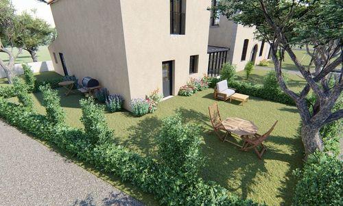 AIX SUD - T4 de 76,7 m2 dans une bastide rénovée - Terrasse