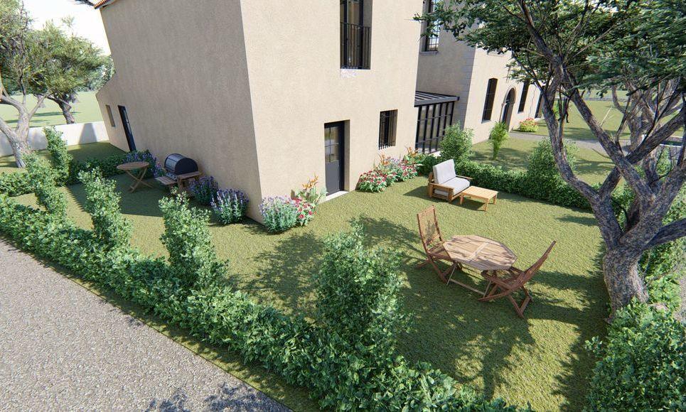 AIX SUD - T4 de 76,7 m2 - Terrasse et Jardin