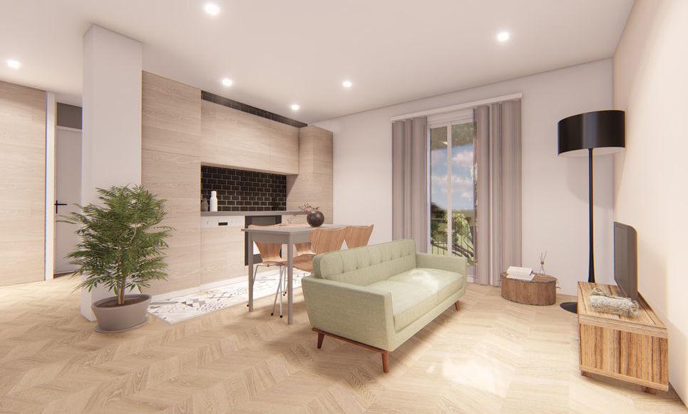 AIX CENTRE VILLE - T2 de 40,95 m2 - Refait à neuf