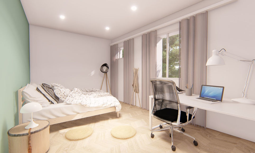 AIX COEUR DE VILLE - T4 de 98,45 m2 - Jardin et garage - : Photo 2